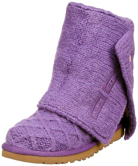 Ugg Lattice Cardy, Botines Planos para Mujer, Violeta, 38 EU: Amazon.es: Zapatos y complementos
