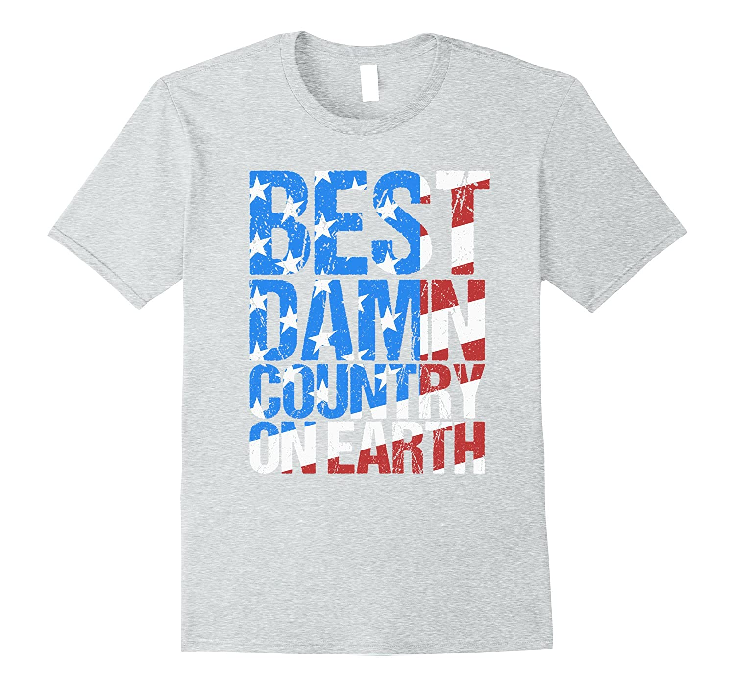 4th of July Patriotic American T-shirt USA Distressed-PL