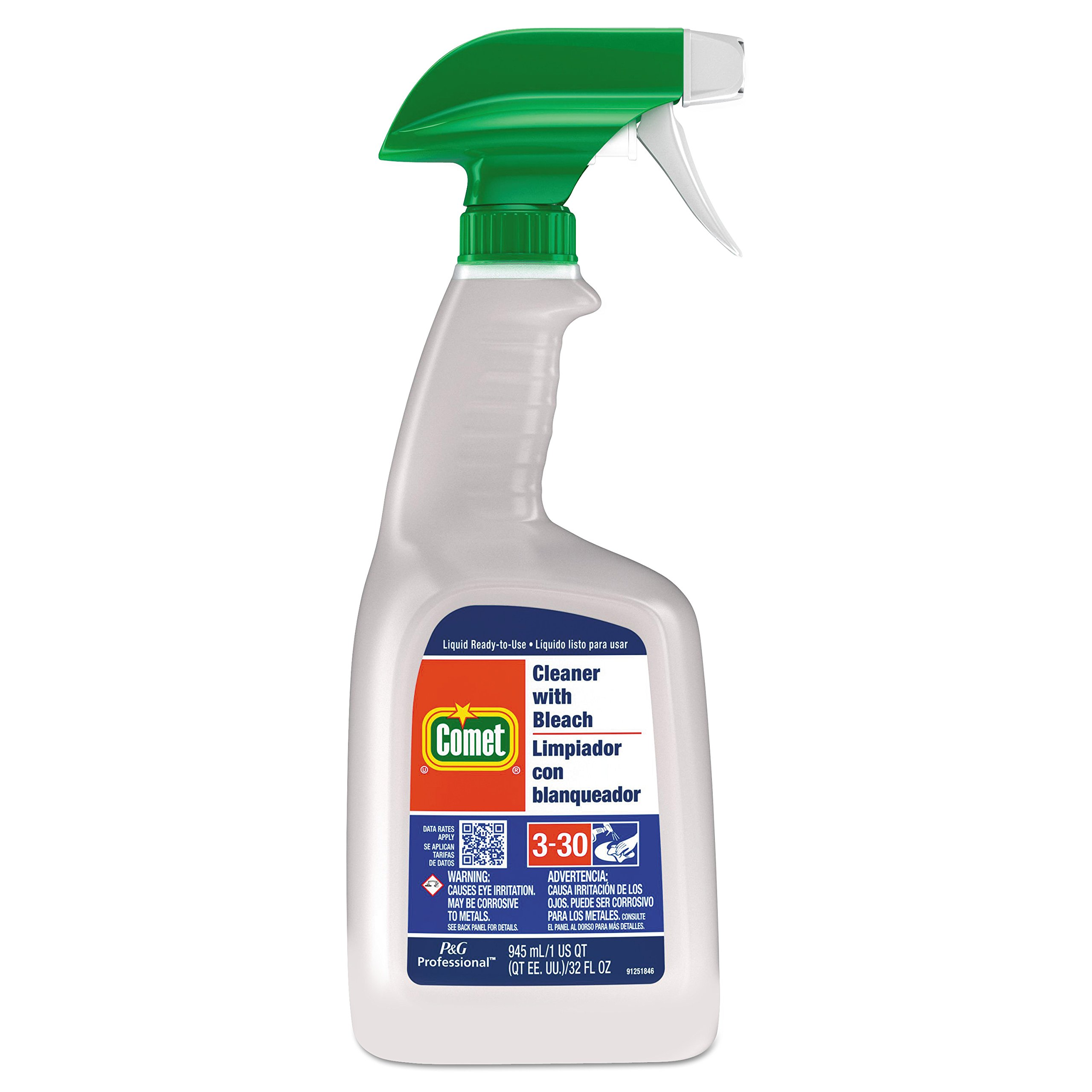 Comet 02287CT Cleaner with Bleach, 32 oz Spray Bottle (Case of 8)