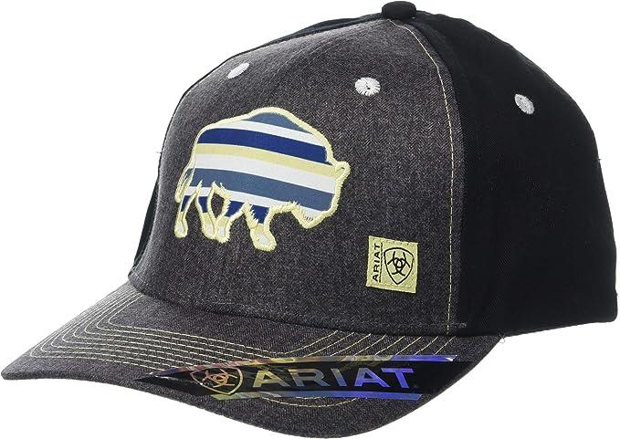 reputable site 3a9f6 c0cf0 ARIAT Men s Herringbone Buffalo Snapback Cap Charcoal One Size