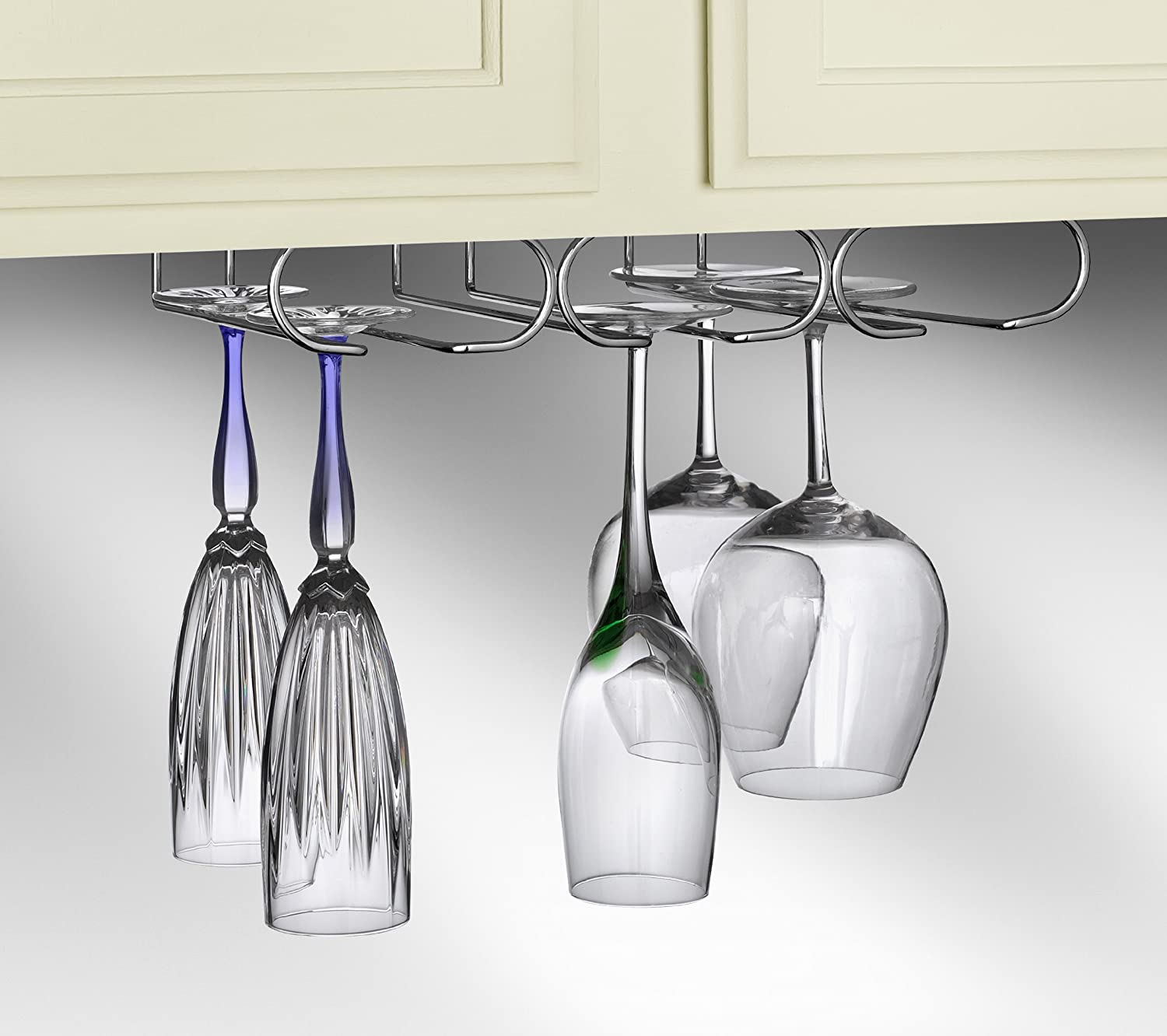 Amazon Spectrum Diversified Under Cabinet Wine Glass Rack and