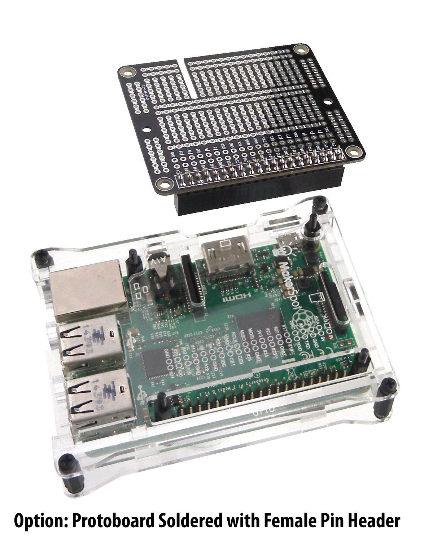 Amazon.com: Raspberry Pi 3 Prototyping Board Proto Breadboard HAT by ...