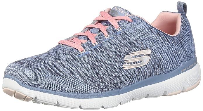 Skechers Flex Appeal 3.0 Sneakers Damen Blau/Rosa (Mesh)