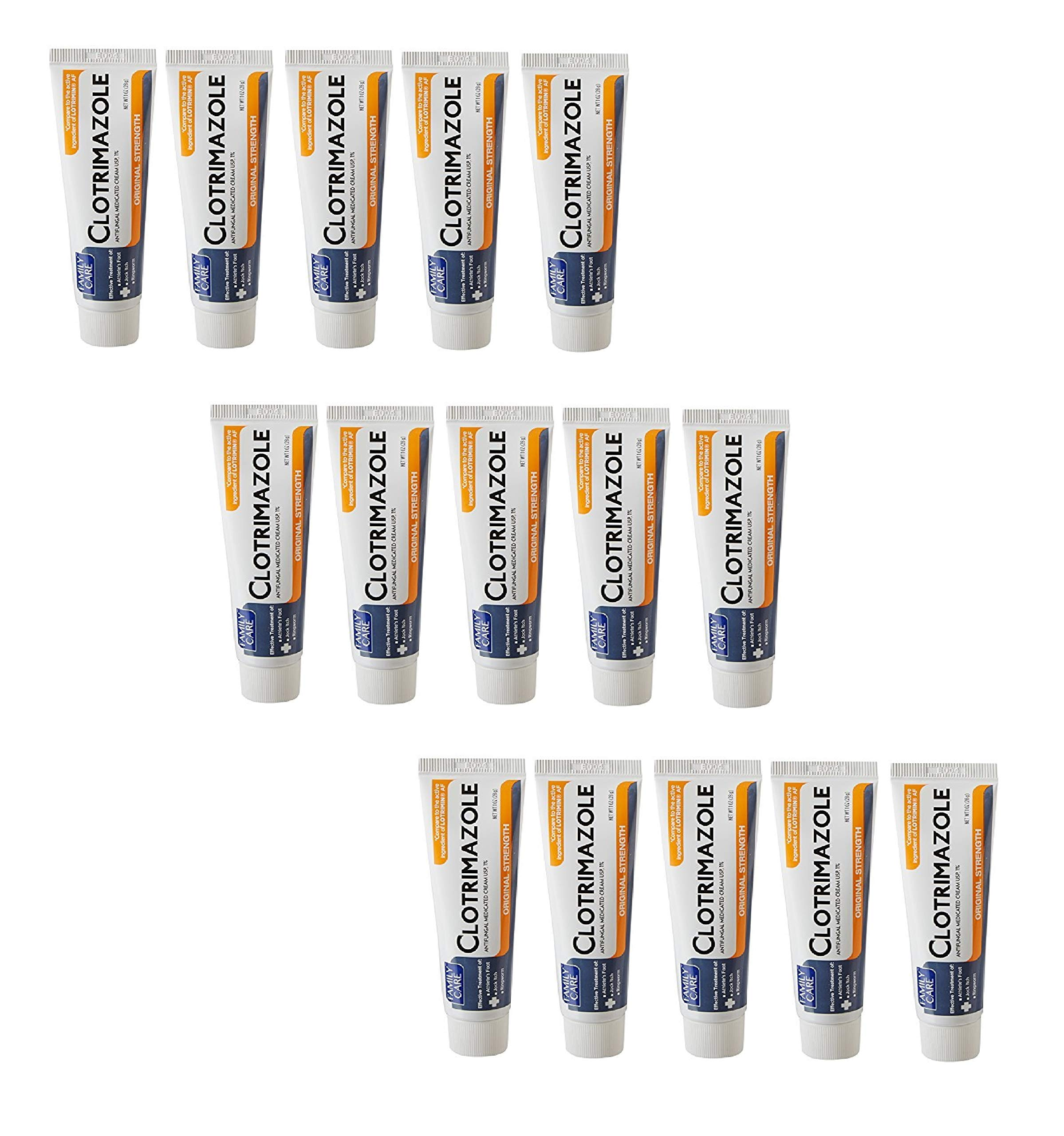 Family Care Clotrimazole Anti Fungal Cream, 1% USP Compare to Lotrimin 1oz LFRczv, 5 Count (3 Pack)