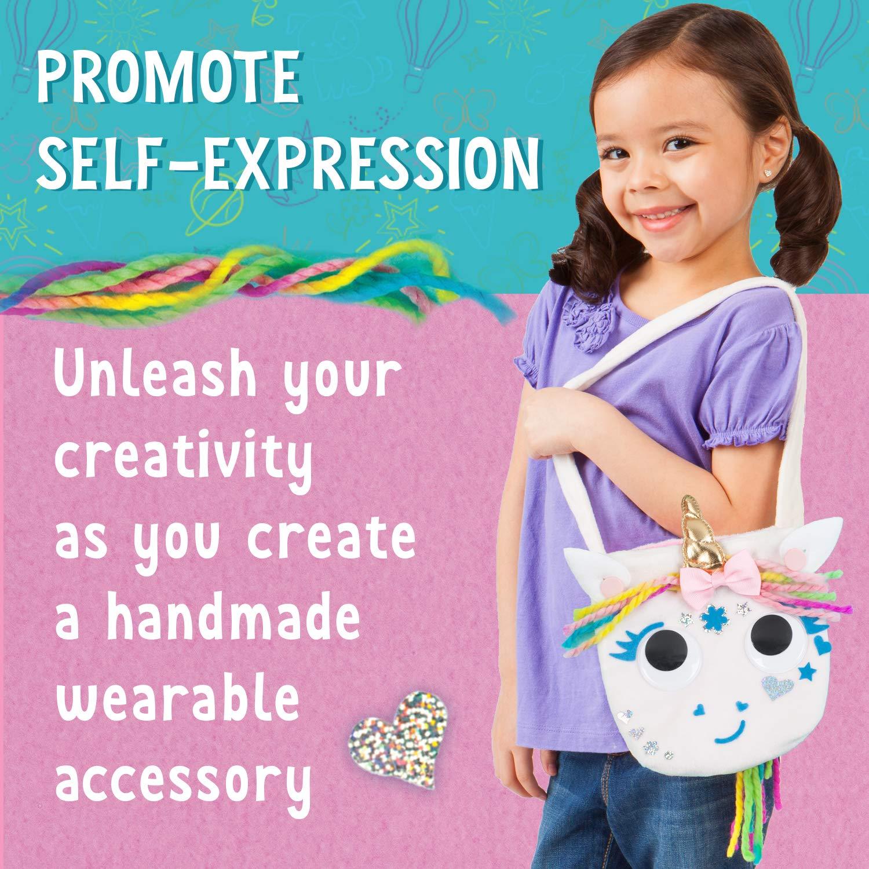 Crafts Creativity for Kids Unicorn Purse Create A No Sew Fabric Unicorn Bag White Boosts Fine Motor Skills for Preschoolers