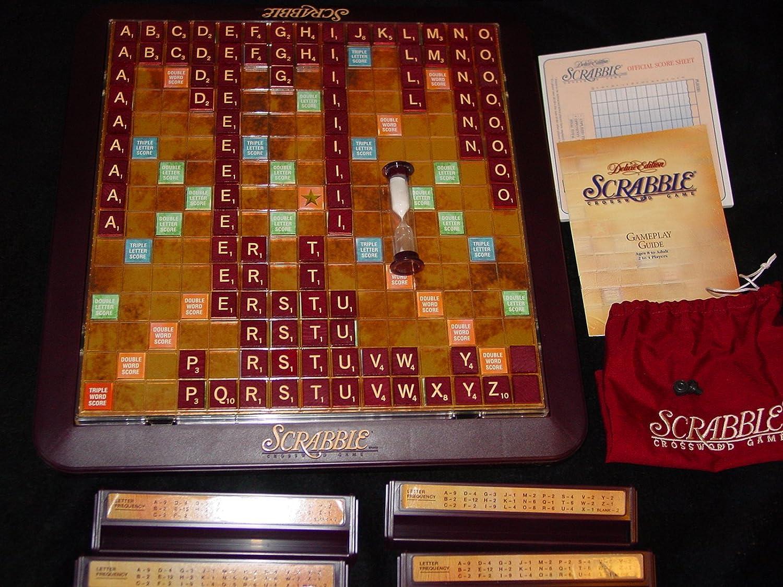 Milton Bradley Juego de Mesa giratoria Scrabble Deluxe 1999 Edition: Amazon.es: Juguetes y juegos