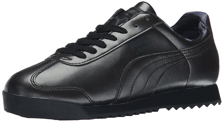 PUMA Women's Roma Metallic Sneaker B00VR1B4DI 10 M US|Black Dark Shadow