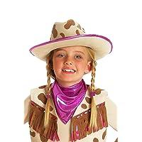 (One Size, Brown/Purple) - Princess Paradise Rhinestone Cowgirl Child Hat Size One Size