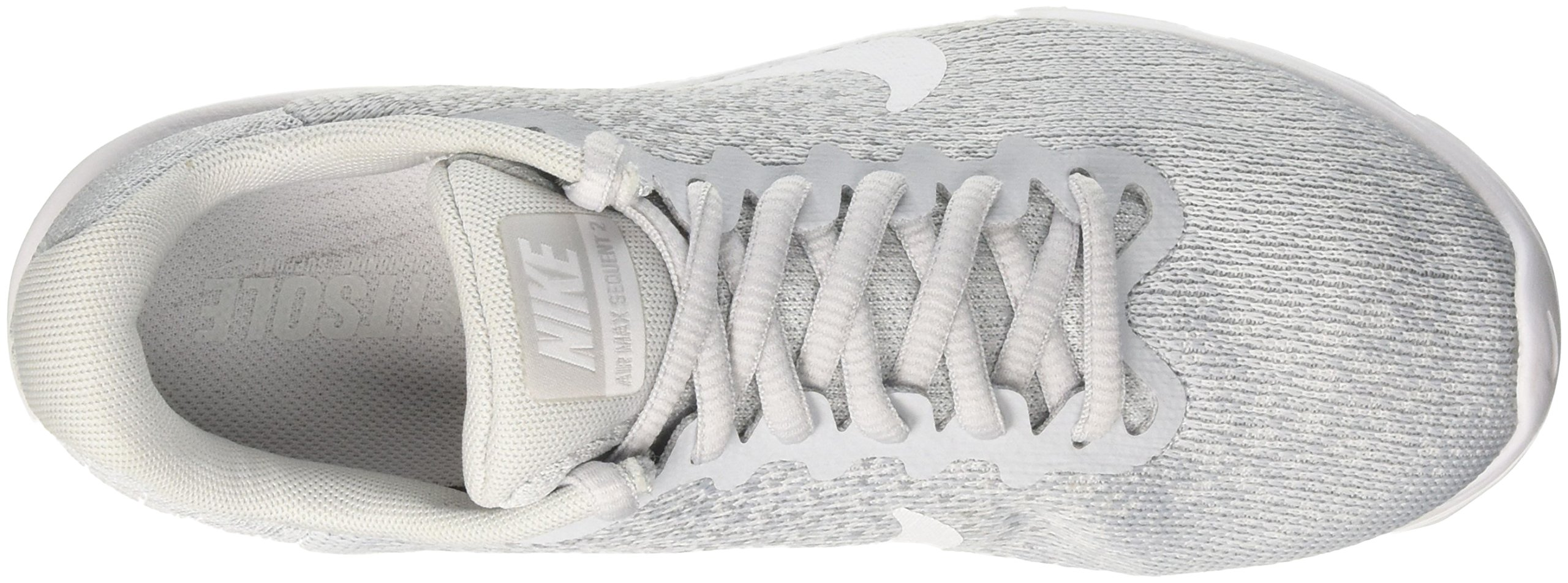 NIKE Womens Air max Sequent 2 Low Top Lace Up Running Sneaker, Silver, Size 10.0 by NIKE (Image #6)