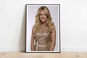 """Blonde in Gold Wall Compatible With Carrie Underwood Singer Poster Dorm Wall Decor Unique Design Unframed Wall Art Size - 8,5'x11' 11'x17' 18'x24' 24'x32' (XL - 24""""x36"""" (61x91cm))"""