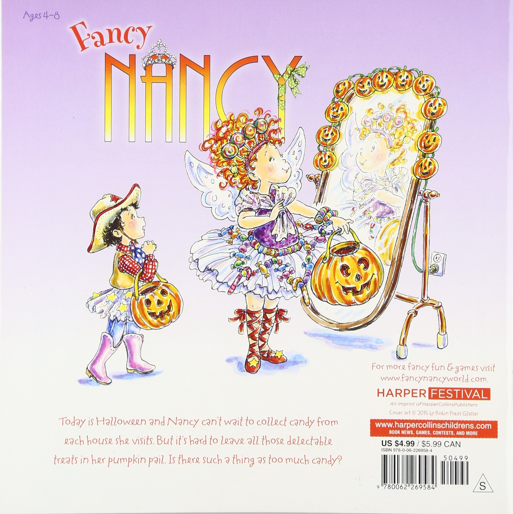 fancy nancy candy bonanza jane oconnor robin preiss glasser 9780062269584 amazoncom books - Fancy Nancy Halloween