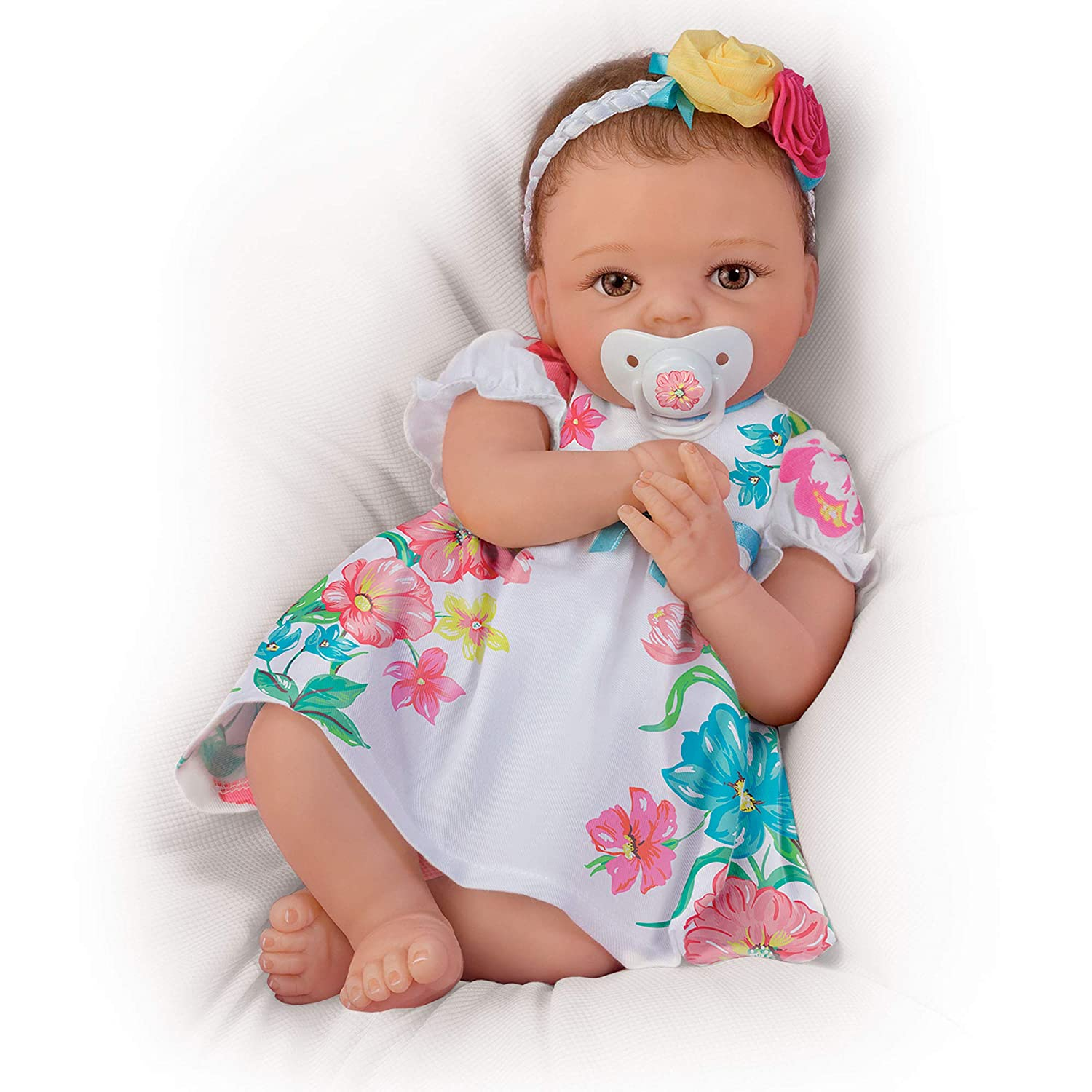 The Ashton - Drake Galleries 'Pretty And Petite Presley' So Truly Real® Baby Girl Doll – TrueTouch™ Silicone Newborn Reborn Lifelike Baby Girl Doll. Realistic Hand-rooted hair & Weighted For Realism