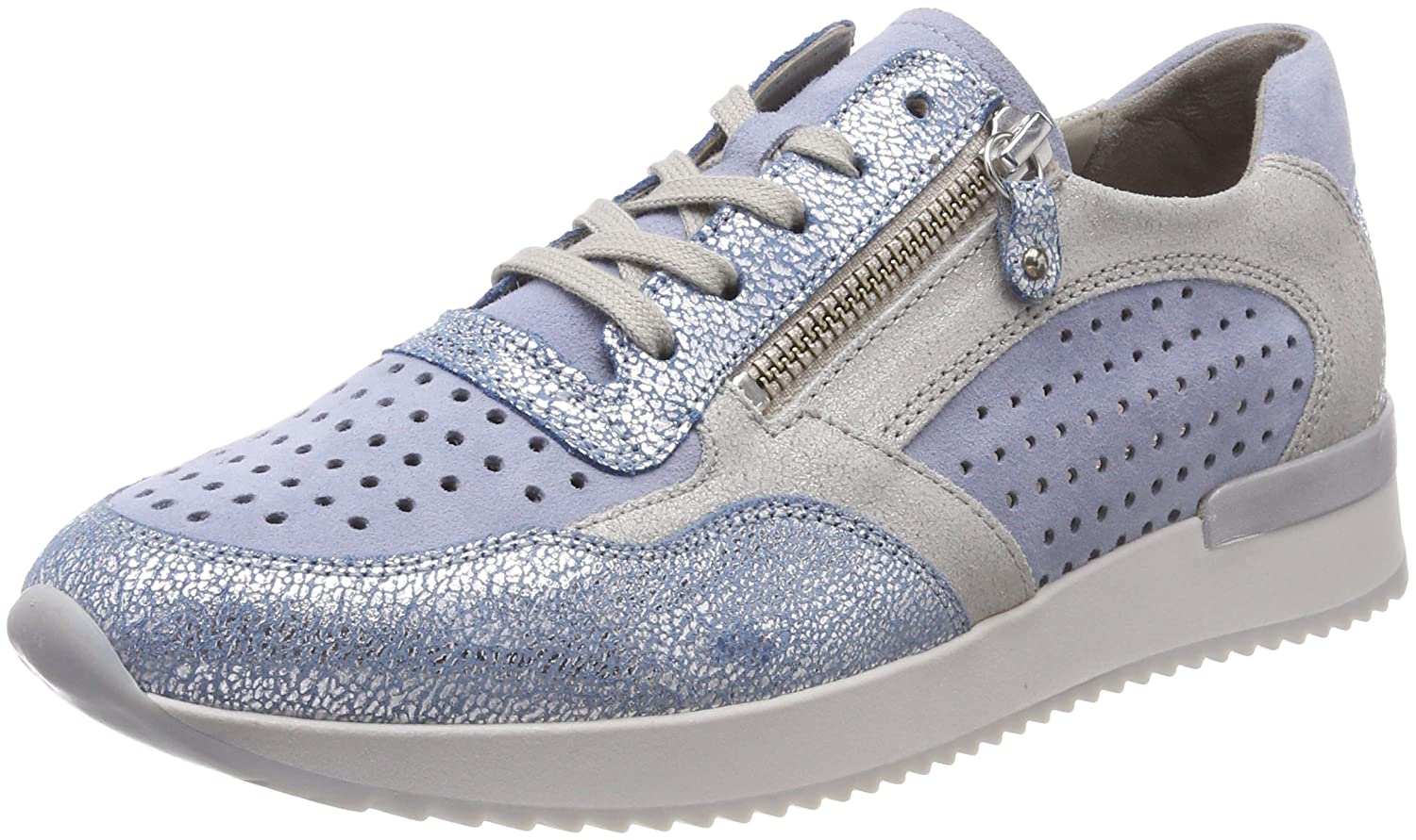 Gabor Shoes Gabor Casual, Zapatos de Cordones Derby para Mujer 38 EU|Azul (Cielo/Aquam./Argen)