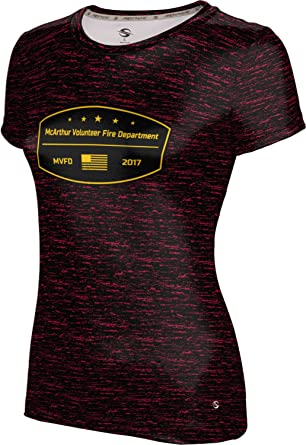 ProSphere Girls McArthur Volunteer Fire Department Brushed Tech Tee (Small)