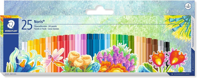 STAEDTLER 241NC25 - Estuche con 25 Ceras, Multicolor