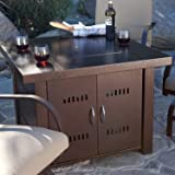 XtremepowerUS Out door Patio Heaters LPG Propane Fire Pit Table Hammered Bronze Steel Finish