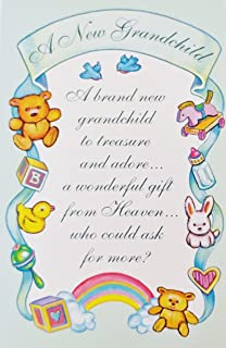 Amazon congratulations on new baby grandchild greeting card a new grandchild a wonderful gift from heaven religious greeting card baby birth congratulations m4hsunfo