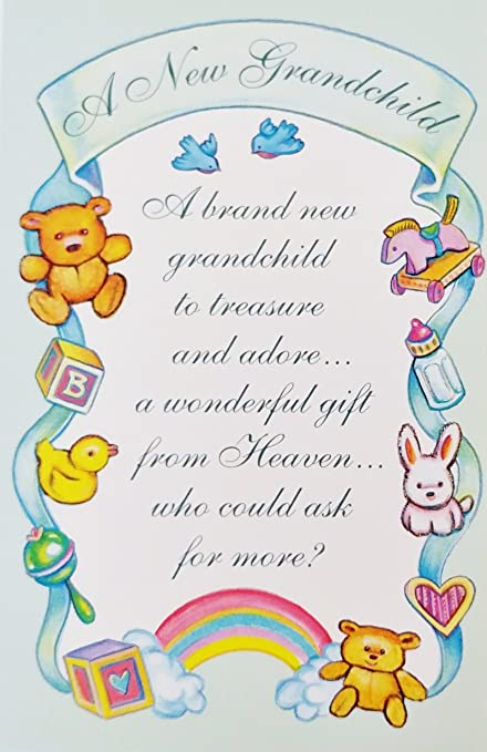 Amazon a new grandchild a wonderful gift from heaven a new grandchild a wonderful gift from heaven religious greeting card baby birth congratulations m4hsunfo