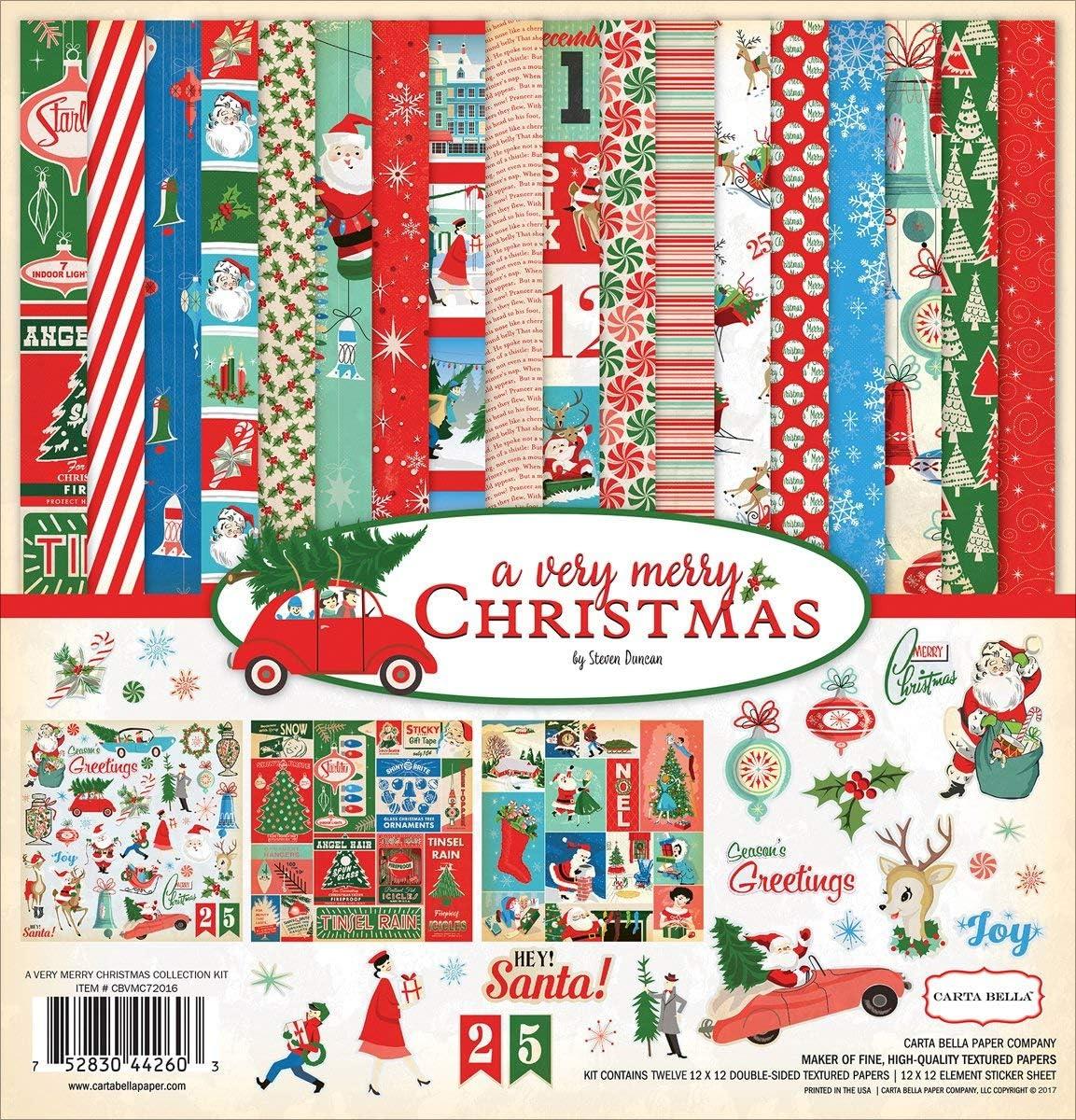 Amazon.com: Carta Bella Paper Company una muy Feliz Navidad ...