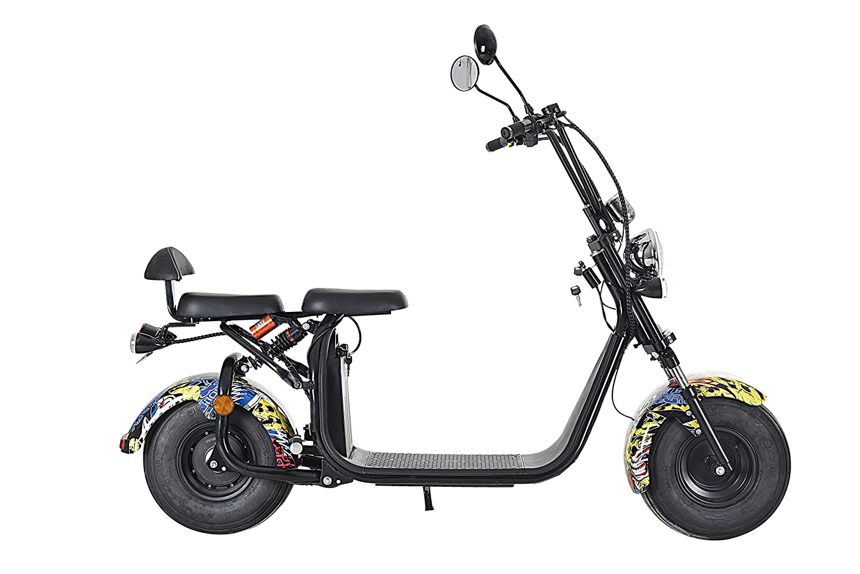 Scooter el/éctrico de Citycoco patinete el/éctrico 1500/W 60/V de 2/asientos
