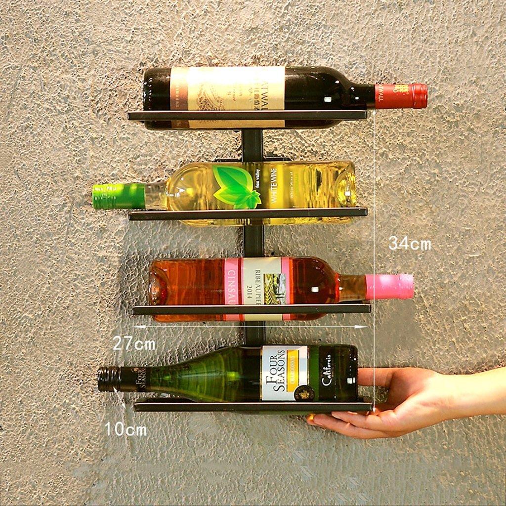 ワインラック ワインラックLOFT壁掛けラック鉄アートワイングラスラックバー装飾カフェウォールワインディングワインラック (色 : A) B07GWXQBBQ A A