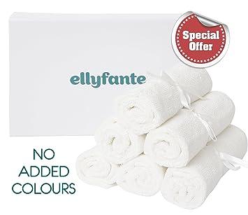 * acaba de lanzar * ellyfante Premium Bambú bebé Toallitas Set de regalo | color blanco ...