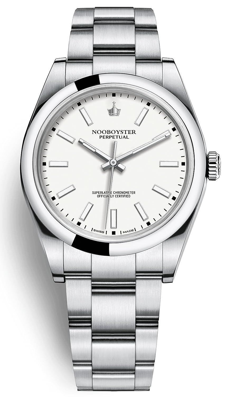 Noob-Fábrica Lujo Corona suiza de alta gama Perpetual ETA 2836 Movimiento Automático Reloj Sapphire Crystal Hour Marcadores: Amazon.es: Relojes