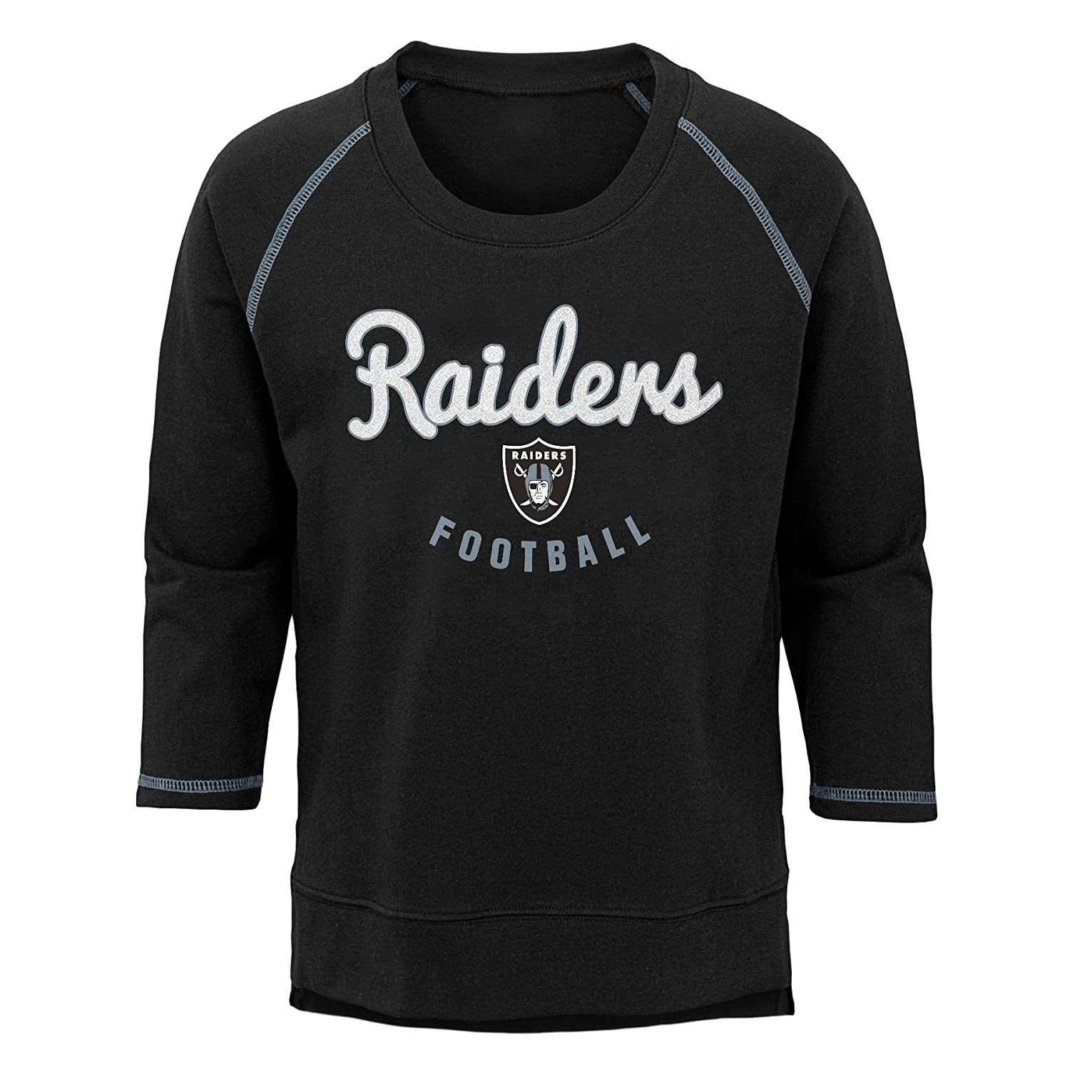Youth X-Large NFL Oakland Raiders Youth Boys Overthrow Pullover Top Black 16