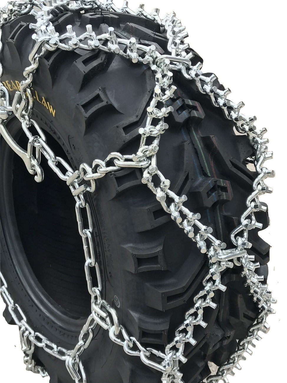 TireChain.com 27x11-14, 27 11 14 ATV UTV Stud Tire Chains, Spider Tightners by TireChain.com