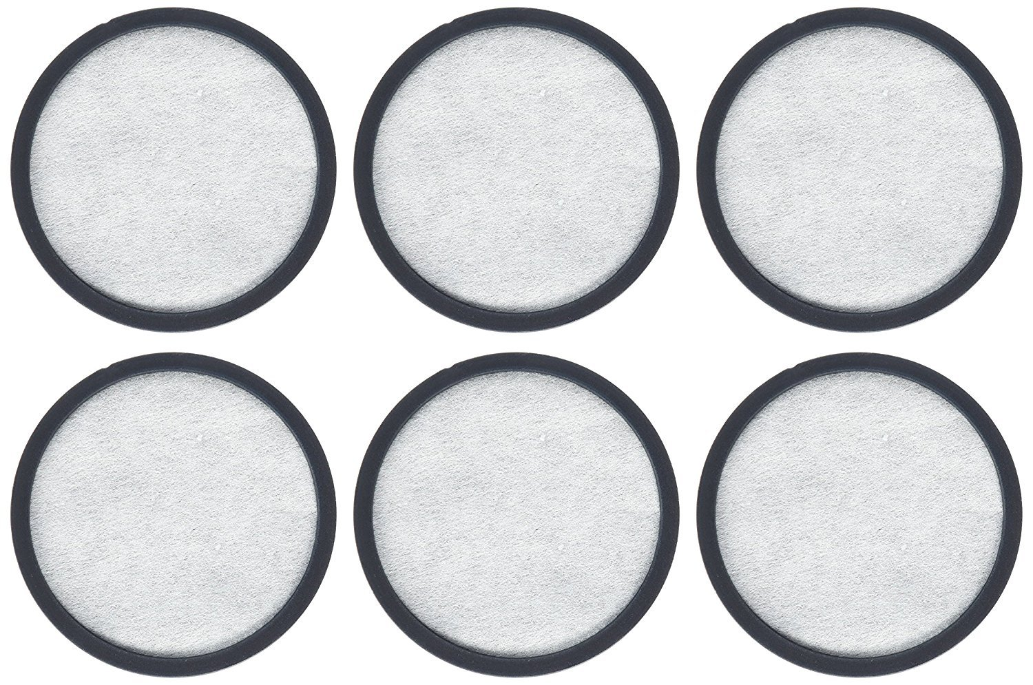 Everyday WWF-6 6-Replacement Charcoal Water Filters for Mr. Coffee Machines, White