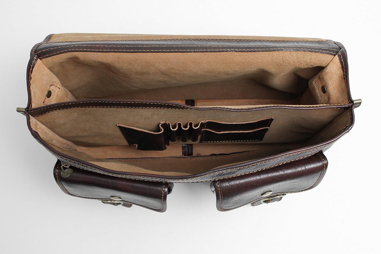 7b2da6db28ca Amazon.com   Alberto Bellucci Mens Italian Leather Parma Express Messenger  Laptop Satchel Bag in Black   Briefcases