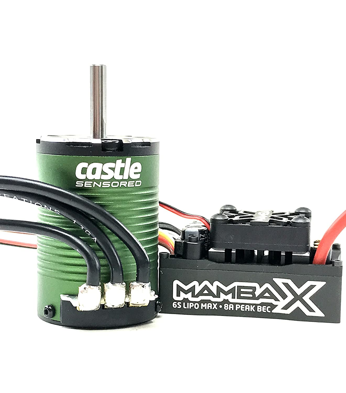 Castle Creations Mamba X Sct Pro Sensored 252v Wp Esc Harness Wire 9 0161 1410 3800kv 5mm Combo Toys Games