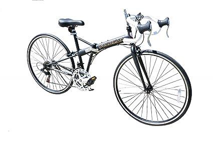 Columba 28u0026quot; Folding Bike W. Shimano 14 Speed Black 700C/28 Inch Wheels