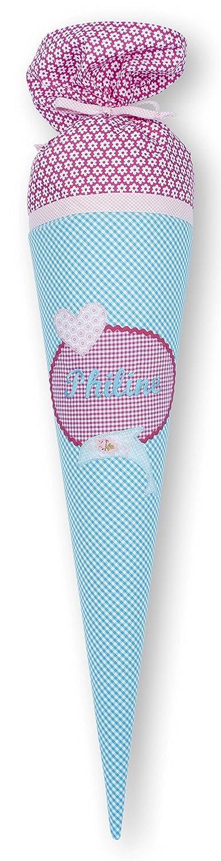 crepes suzette Schultüte mit Namen, Stoffschultüte, Schultüte Delfin Stoffschultüte Schultüte Delfin
