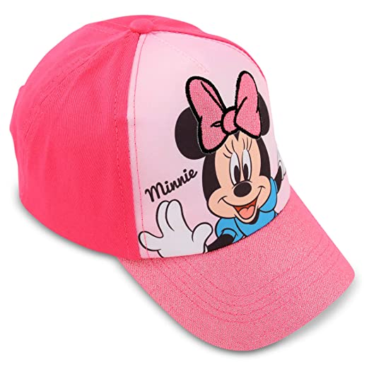 c0bbe3916b7 Amazon.com  Disney Little Girls Minnie Mouse Cotton Baseball Cap Age ...