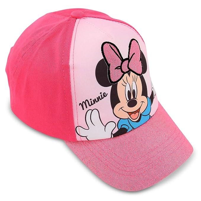Amazon.com  Disney Little Girls Minnie Mouse Cotton Baseball Cap Age ... a1c60ac4869