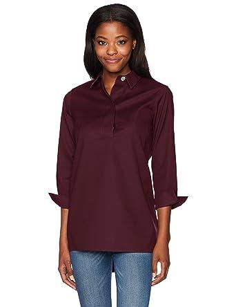 3875a36dc41 Foxcroft Women s BRE Solid Stretch Non Iron Tunic at Amazon Women s ...