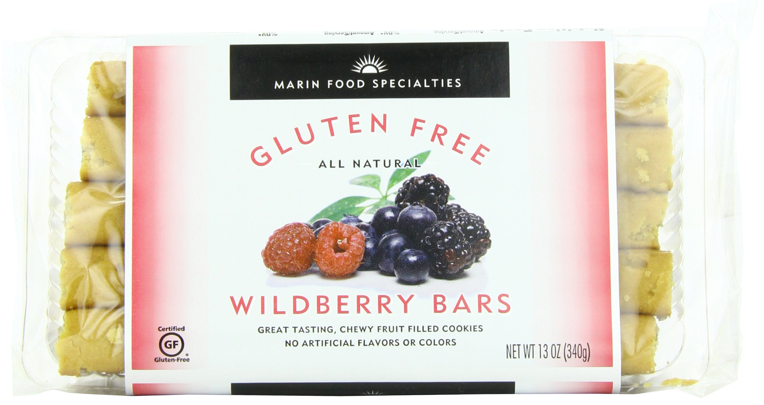 Marin Gluten Free Fruit Bar, Wildberry, 13 Ounce (Pack of 6)