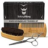 Striking Viking Beard Comb and Brush Set with