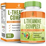 L-Theanine Supplement - High Strength Theanine Complex With Added Magnesium and Zinc - 90 Capsules (3 Month Supply) by Earths Design