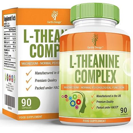 Suplemento de L-Teanina – Complejo de Alta Concentración con Magnesio y Zinc Añadidos -