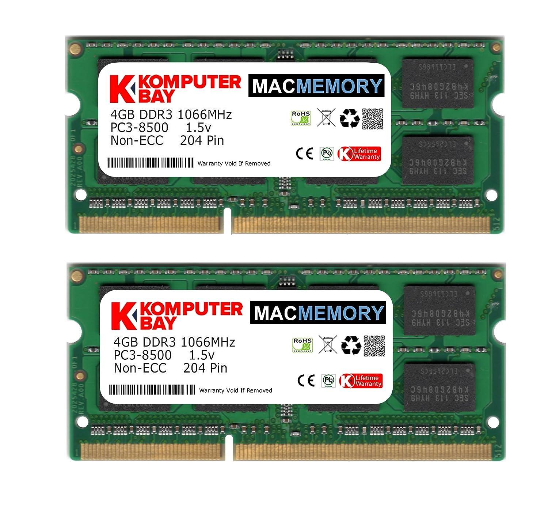 Komputerbay MACMEMORY 8GB DDR3 PC3 8500 1066MHz SODIMM Amazon puter & Zubehör