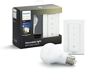 Philips Hue Wireless Smart Dimming Kit (Installation-Free, Exclusive for Philips Hue Lights, Compatible with Amazon Alexa, Apple HomeKit, and Google Assistant)