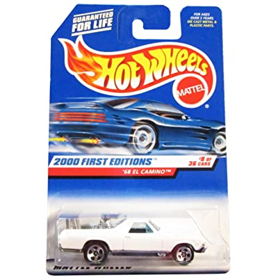 Hot Wheels 2000 First Editions '68 El Camino 8/36, White: Toys & Games