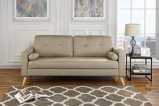 Amazon.com: Sofá moderno de tela para salón, sofá con ...
