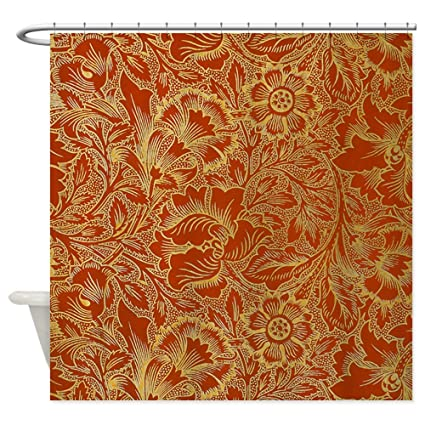 CafePress William Morris Poppy Shower Curtain Decorative Fabric 69quot