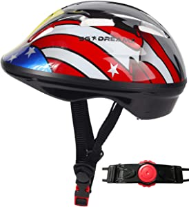 SG Dreamz Toddler Helmet - Adjustable from Infant to Toddler Size, Ages 1 to 3 - CSPC Certified Kids Bike Bicycle Cycling BMX Scooter Roller Skating Helmets Boys and Girls Will Love