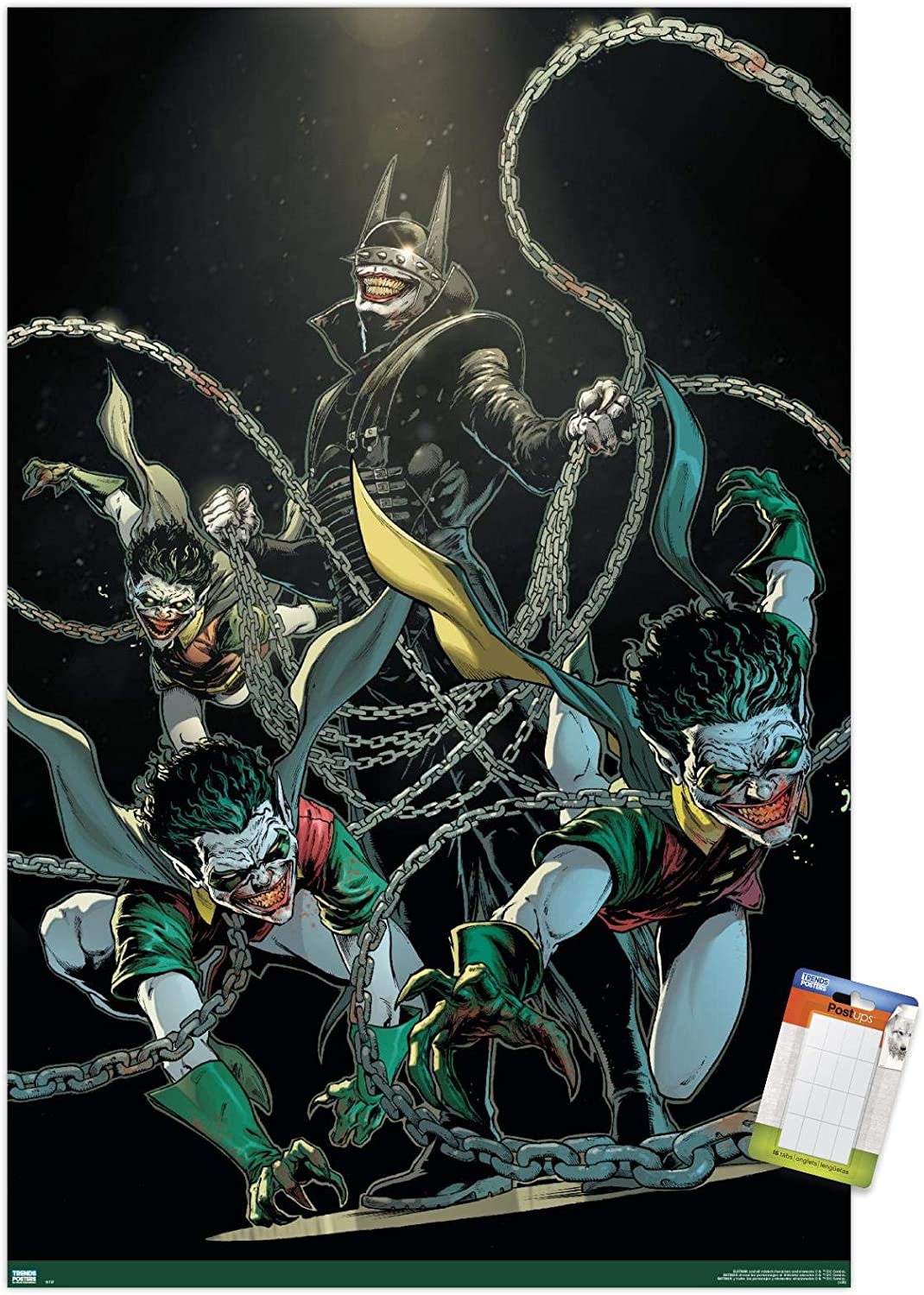 Trends International DC Comics The Batman Who Laughs - Chains Wall Poster, 22.375