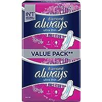 Always Diamond Ultra Thin, Large sanitary pads, 14 count