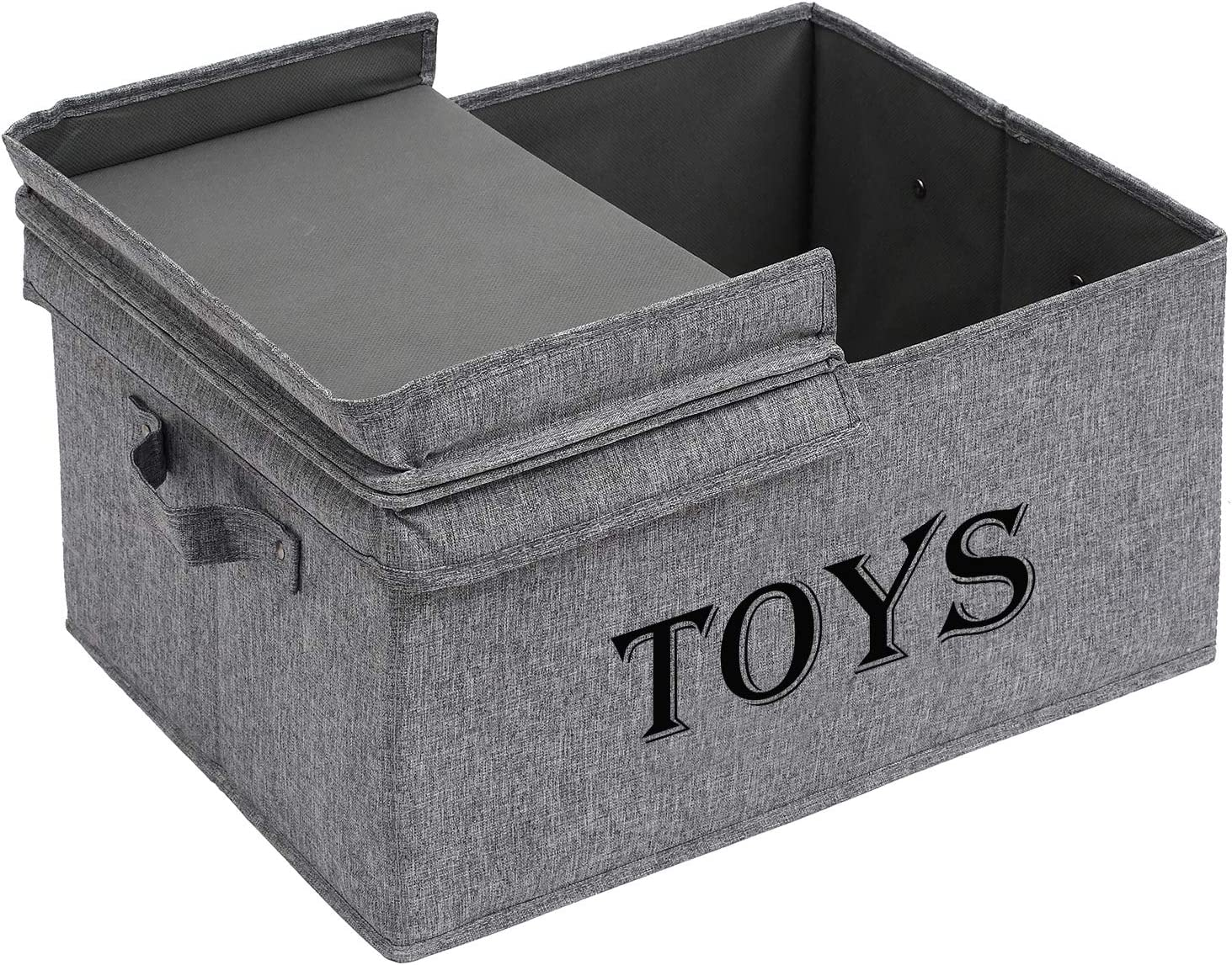 Playroom Large Collapsible Toys Bin with lid for Children /& Dog Toys Xbopetda Toy Storage Organizer Chest for Kids /& Living Room Nursery Closet etc Great Box for Boys and Girls-Snow Gray